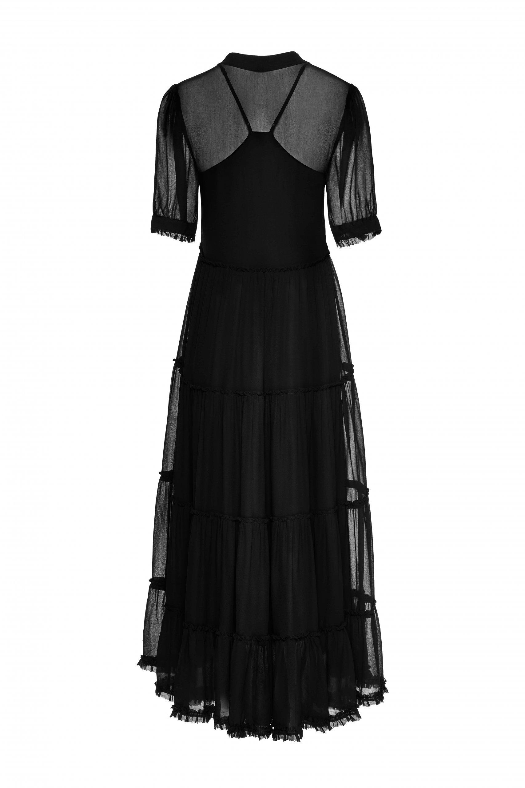 Jedwabna suknia czarna