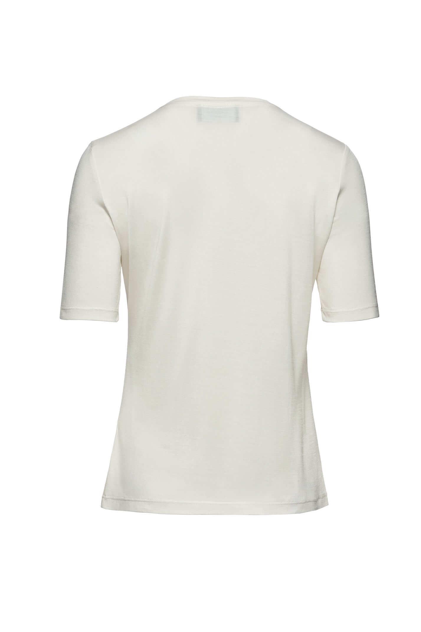 Jedwabny T-shirt ecru