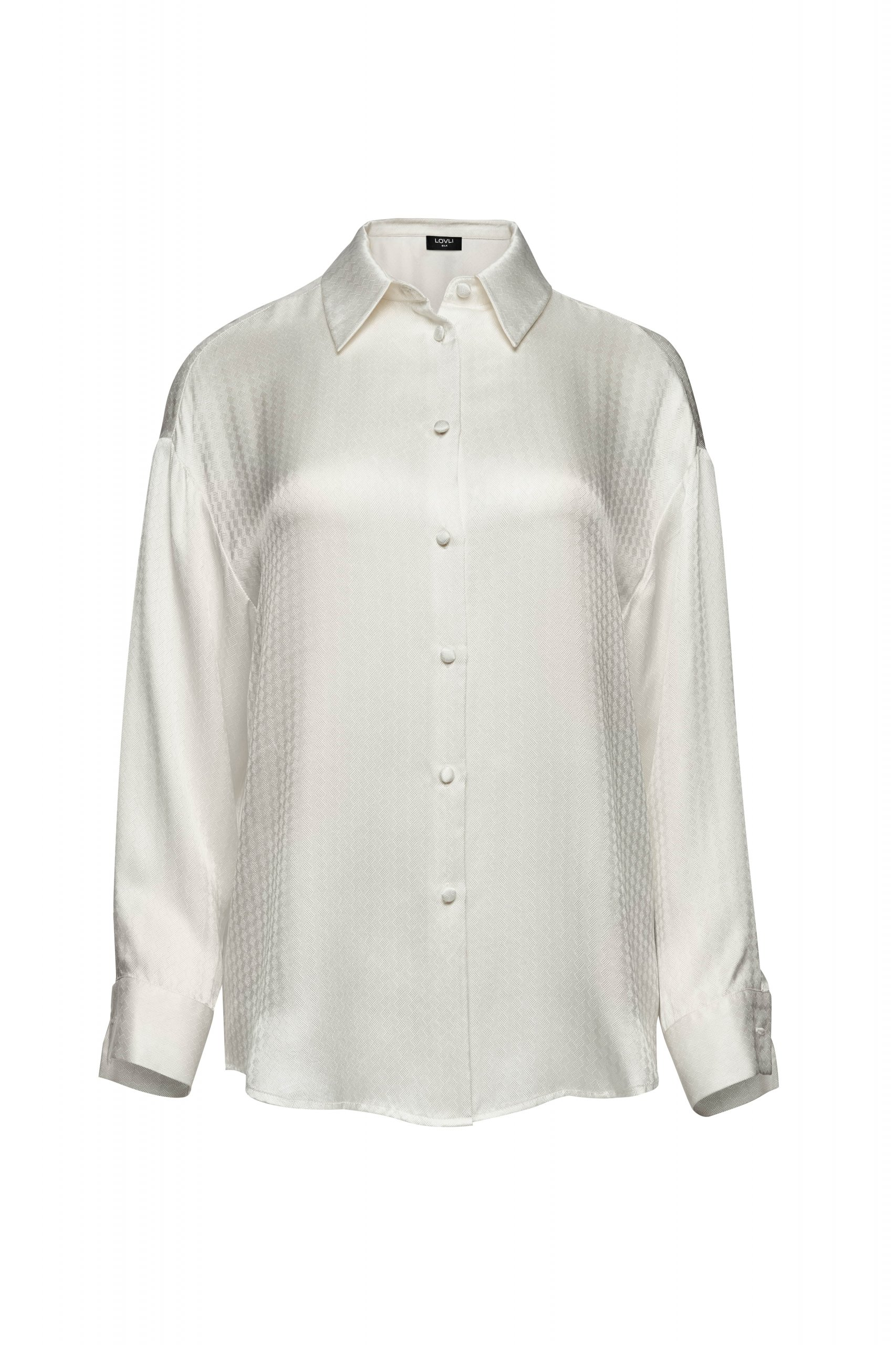 Jedwabna koszula ecru