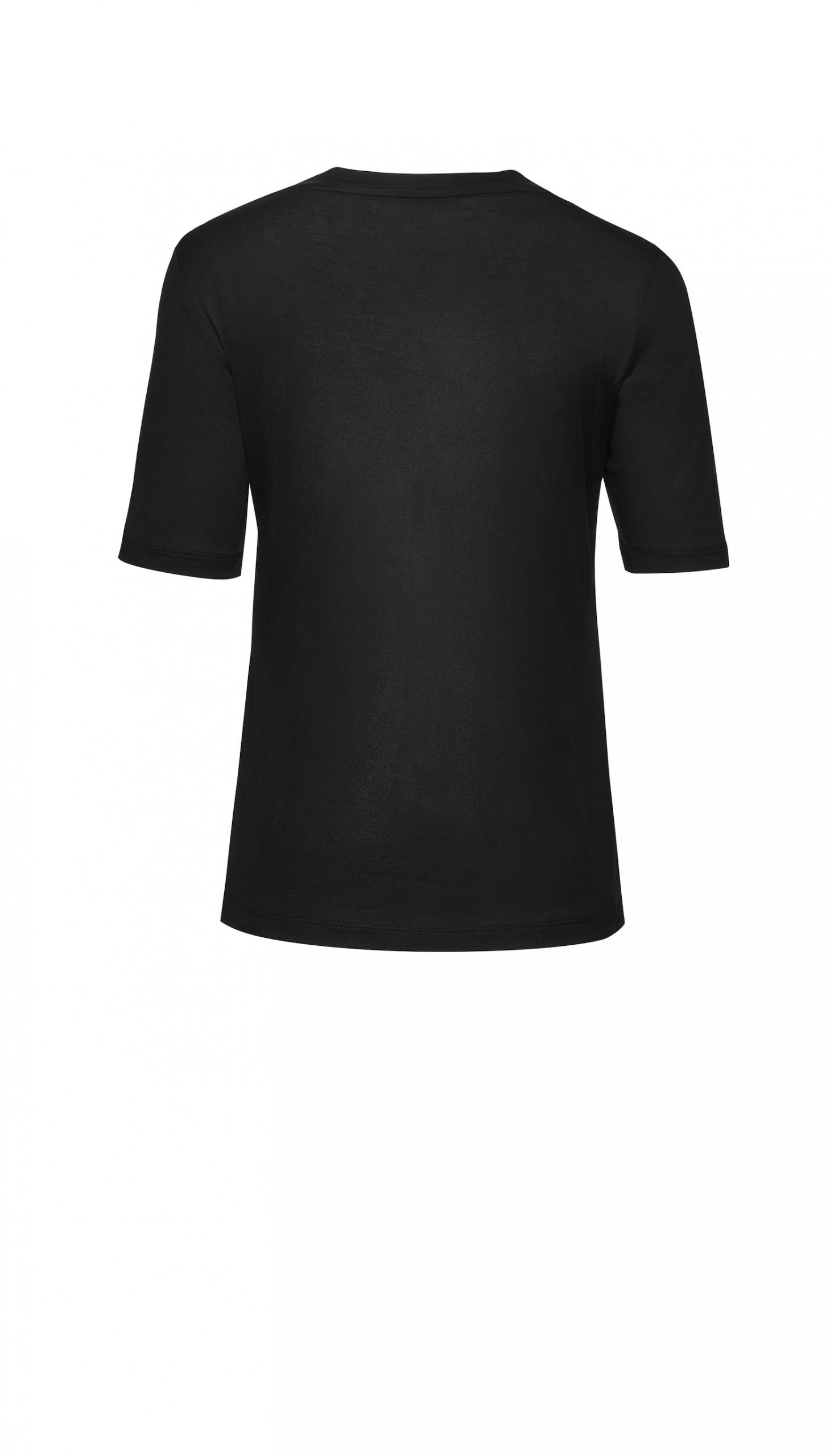 Jedwabny T-shirt czarny