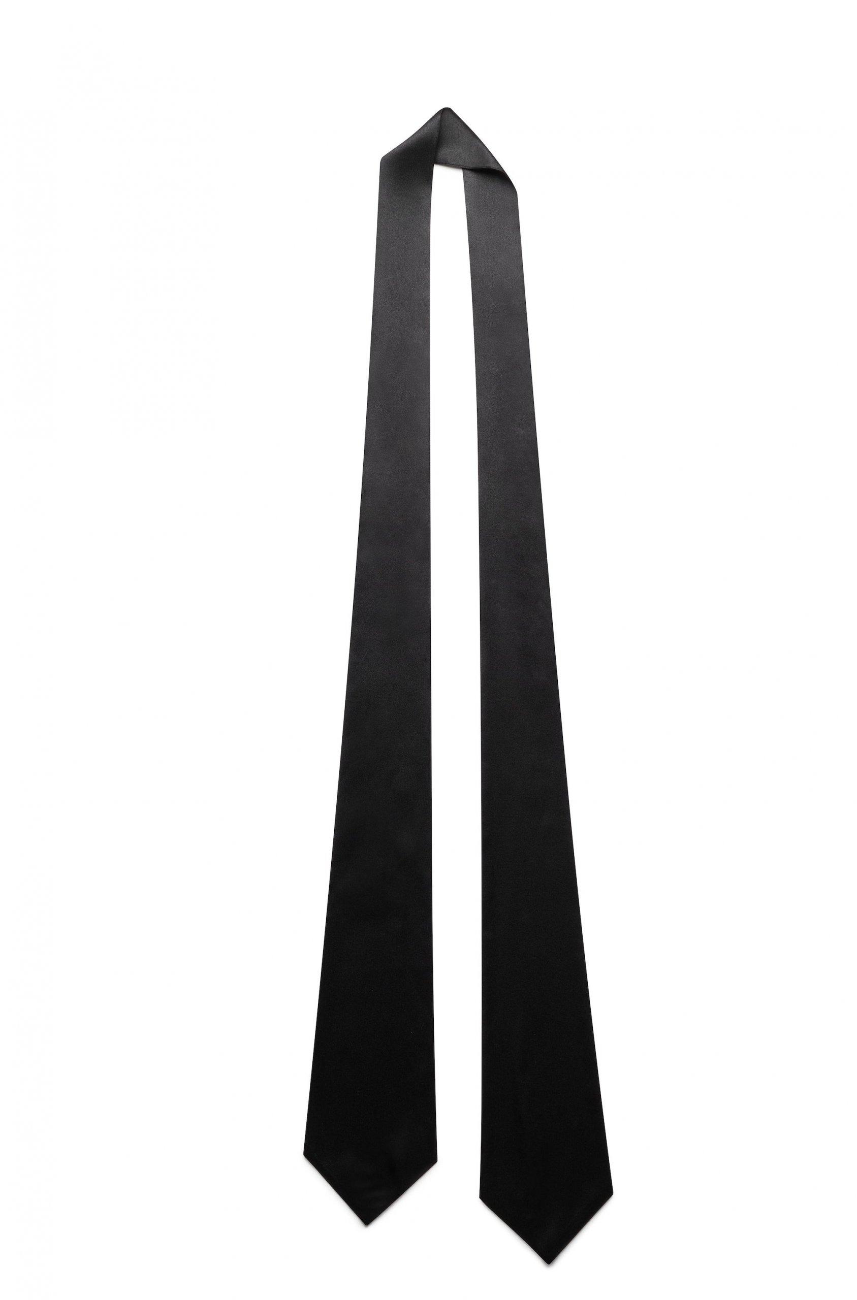 Jedwabny szalik czarny 170 cm