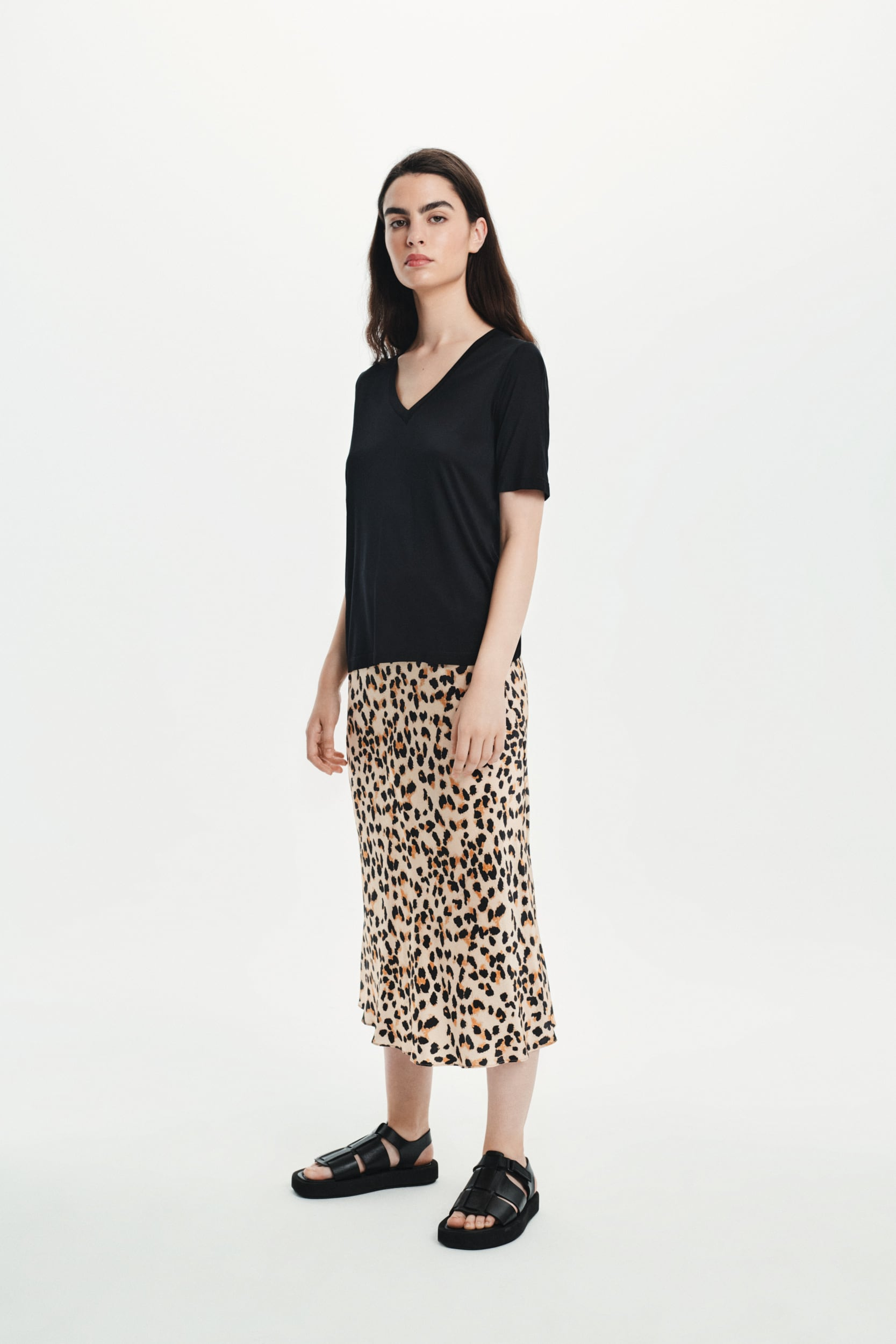 Jedwabna spódnica animal print