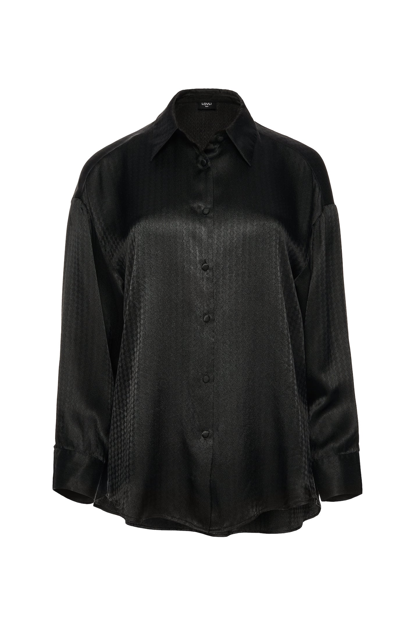 Oversize Silk Shirt in black