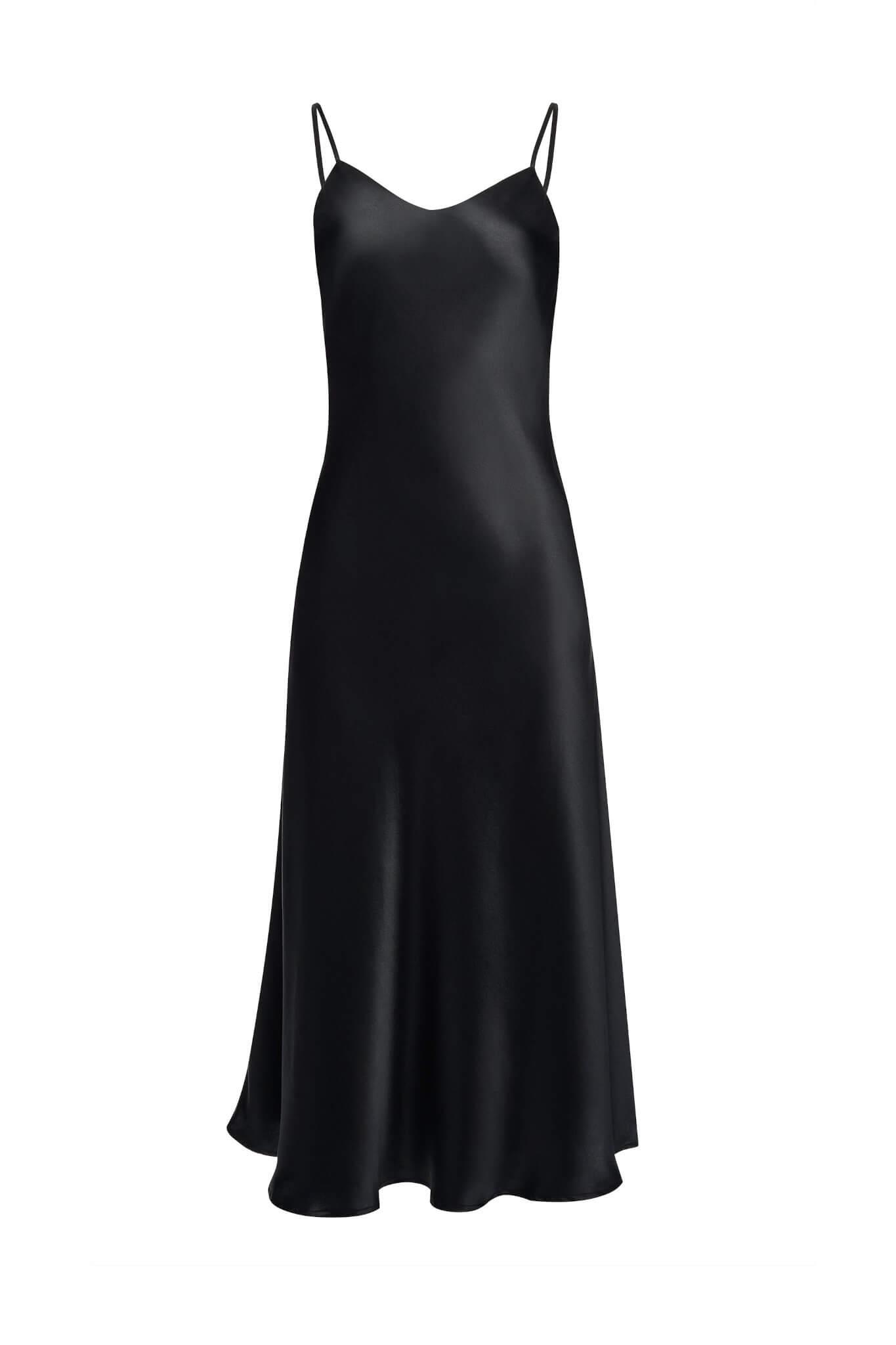 Jedwabna sukienka maxi