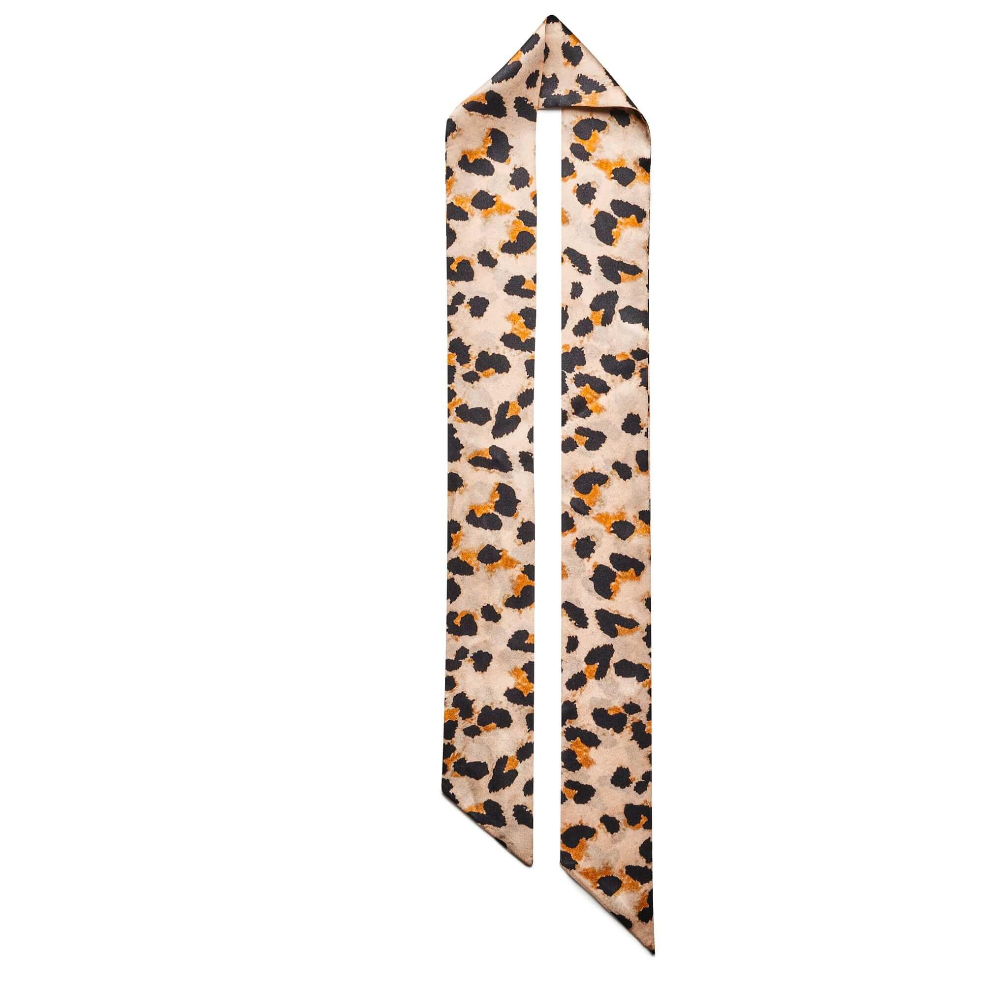 Jedwabny szalik animal print